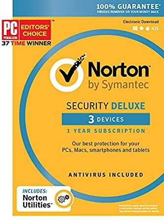 Norton Security Deluxe + Norton Utilities Bundle - 3 Devices [Key Card]