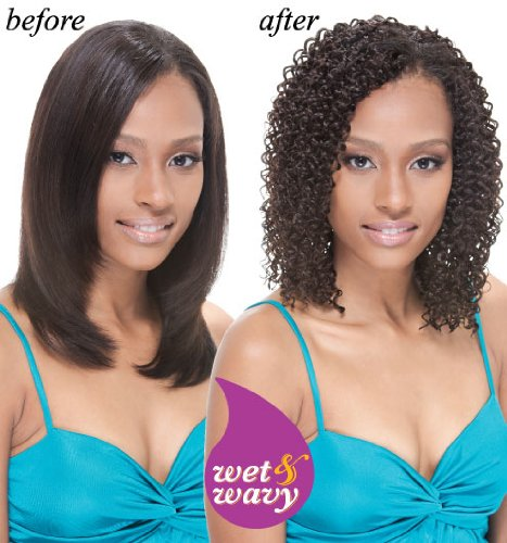 Janet Collection Indian Remy Afro Jerry Weave 10inch #1 Jet Black