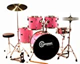 Pink Drum Set For Sale Complete Full-Size Kit with Cymbals and Picture