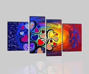Quadri moderni olio su tela dipinti a mano albero con for Amazon quadri moderni astratti