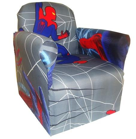 SPIDER MAN CHILDRENS BRANDED CARTOON CHARACTER ARMCHAIR CHAIR BEDROOM PLAYROOM KIDS SEAT