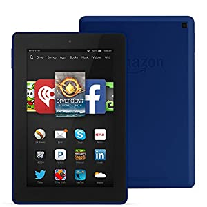 "Fire HD 7, 7"" HD Display, Wi-Fi, 8 GB - Includes Special Offers, Cobalt by Amazon"