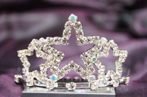 Beautiful New Bridal Wedding Tiara Crown W/ Crystal Star Dh15722C front-680656