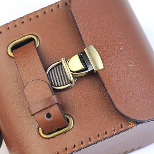 Handmade Leather PU England Vintage Bike Seat Saddle Tail Tools Bag, to match BROOKS Cushion Size 13*10.5*7cm 5