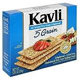 Kavli All Natural Five Grains Crispbread Crackers, Low Fat Crackers