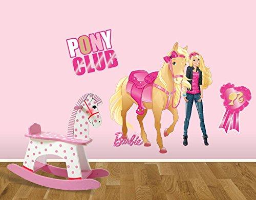 Klebefieber DS 1015-B Wandtattoo Barbie Pony Club B x H: 60cm x 86cm (erhältlich in 10 Größen) als Weihnachtsgeschenk