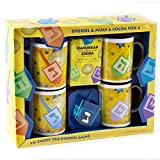 Hanukah Mugs with Dreidel & Mugs, The Great Way to Celebrate Chanukkah - Oh! Nuts