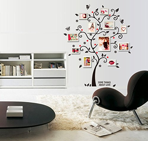 Ufengke immagine creativa albero photo frame adesivi murali camera da letto soggiorno adesivi - Adesivi murali camera da letto ...