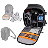 DURAGADGET LARGE Black Rucksack digital SLR camera case / bag / Compatible with Larger SONY and Olympus E Models