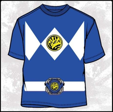 Power Rangers Costume Blue Ranger T-Shirt (XL)