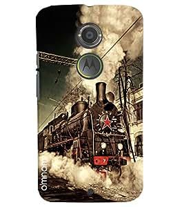 Omnam Steam Engine Train Printed Designer Back Cover Case For Motorola Moto X2