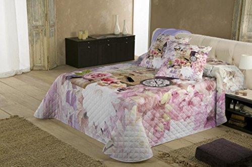COTTON ART. Colcha Bouti Modelo BOUQUET para cama de 180 ( 270 x 260 cm). Algodón 100%. Disponible para cama de 90,105,135,150 y 180.