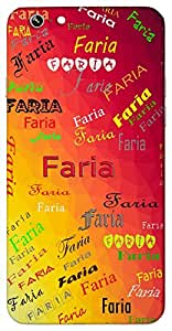 Faria (Caravan) Name & Sign Printed All over customize & Personalized!! Protective back cover for your Smart Phone : Moto X-STYLE