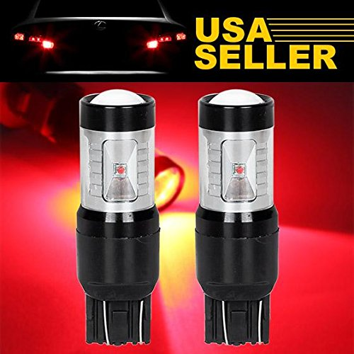 Partsam 2pcs 7443 7505 6-Cree-XB-D Red 30W High Power Projector LED Tail Light Bulbs Brake Lamps for HONDA Accord/Civic (2004 Toyota Prius Brake Light compare prices)