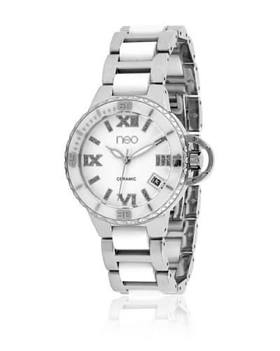 Neo Reloj con movimiento japonés 75954090 Plateado / Blanco 33 mm