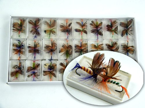 48pcs Lot Butterfly Fly Fishing Trout Salmon