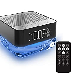 Junjiada@Classic Portable Wireless Bluetooth Speaker with Alarm clock and radio, Powerful Sound with Enhanced Bass, handsfree phone and Built-in Mic,