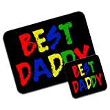 Best Daddy Fathers Day Birthday Gift Premium Mousematt & Coaster Set