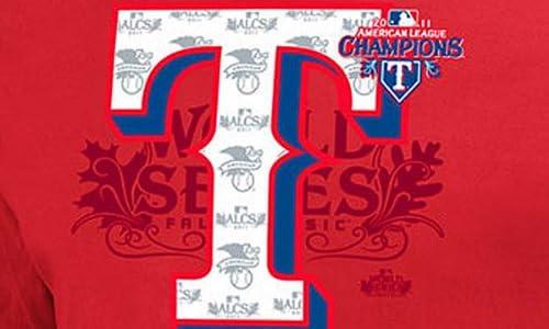 (マジェスティック)Majestic MLB テキサス・レンジャーズ 2011 League Champion LockerRoom Tシャツ (レッド)