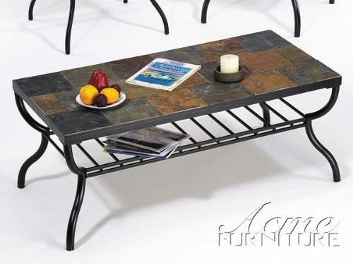 Black friday stone top coffee table by acme furniture for Cheap furniture sites