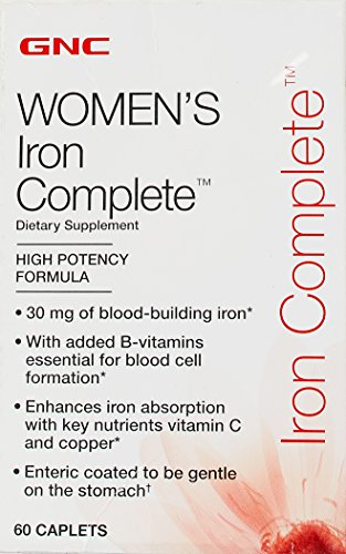 GNC Women's Iron Complete, Caplets, 60 ea (Iron Supplement For Women compare prices)