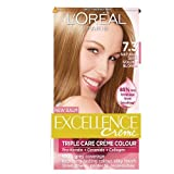 L'Oreal Paris Excellence Hair Colour Kit, Natural Dark Golden Blonde Number 7.3 - Pack of 3