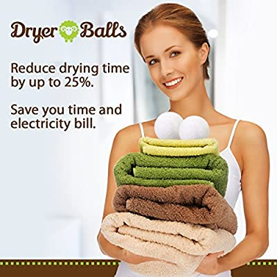 Timber Wool Dryer Balls - 6 XL Size Pack - All Natural Alternative to Fabric Softener and Dryer Sheets to Save You Money