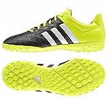 Adidas Ace 15.4 TF Football Shoes, Boy's Size 3 (Black/white/Steylo)