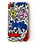 Hybrid High Impact Pop Art Protector Stylus Keith Haring Iphone 4 or 4s Case