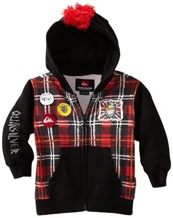 Quiksilver Baby-boys Infant Hawk E Full Zip Fleece, Black, 6-9 Months