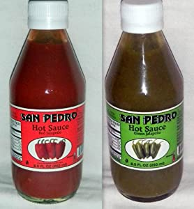 SAN Pedro Hot Sauce Jalapeno From Mexico 8.5oz 2 Glass Bottles Sealed