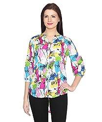 ELI Multicolour Western Party Wear Casual Women Printed Hi-Low Shirt Top
