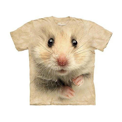 The Mountain Kids Hamster Face T-Shirt, Large, Tan