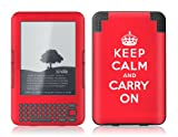 Protective Skin Designer Cover for Amazon Kindle Keyboard 3 - Keep Calm - Gelaskins