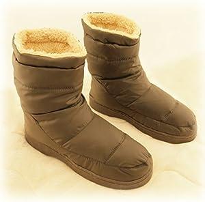 COCORO 履くだけ ぽかぽか 防寒 メンズ 室内 用 ルーム スリッパ フリーサイズ 起毛保温ソックス付属