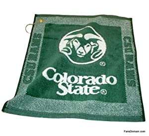 Buy Colorado State Rams Woven Towel from Team Golf by Team Golf