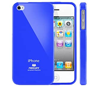 SQ1 [Mercury] Slim Fit Flexible TPU Case for Apple iPhone 4 (Blue)