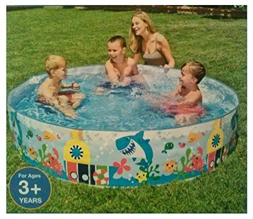 EXCLUSIVE Plastic Snapset 6ft Kiddie Swimming Pool with LIMITED EDITION Submarine Ocean Party Design by Intex