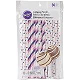 Wilton 1912-4001 Colored Lollipop Sticks, Pink/Purple