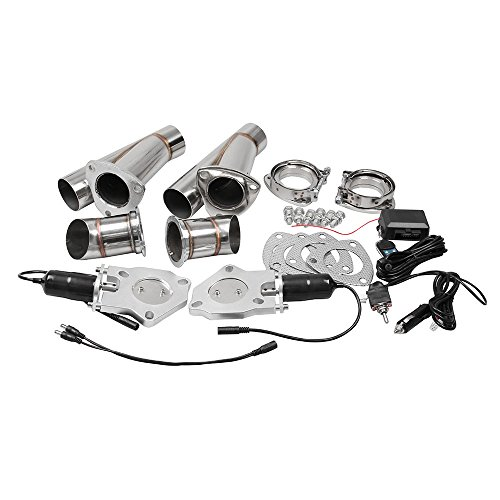 Generic 2.5 Inch 2pcs Exhaust Cut Out Remote Control & Manual Switch Stainless Steel Y Headers Pair Electric Exhaust Cutout Pipe Kit (Exhaust Cut Out Kit compare prices)