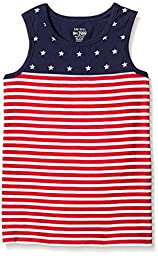 The Children\'s Place Big Boys Us Pieced Tank Top, Classic Red, Medium/7/8