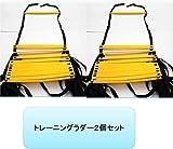 俊敏性! トレーニングラダー アジリティーラダー 2個  【Bluestarz13923オリジナルセット販売商品】 (イエロー, 7m 13枚×2セット)