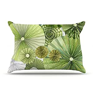 "Amazon.com - Kess InHouse Heidi Jennings ""Green Thumb"" Lime 30 by 20"