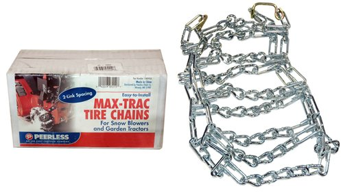 Review Of Max Trac 18x9.50x8 Snowblower/Garden Tractor Tire Chains