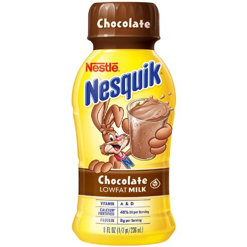 Nestle Nesquik Chocolate Lowfat Milk - 15/8 Oz. Bottles