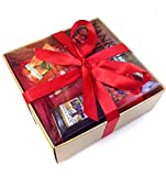 Yankee Candle - 6 Votive Sampler Gift Set - (Incl. Black Cherry & Bahama Breeze) in a Branded Yankee Candle Gold Gift Box with Red Tissue Paper and Red Ribbon