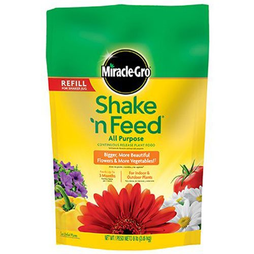 Miracle-Gro Shake 'n Feed Continuous Release All Purpose Plant Food, 8-Pound (Slow Release Plant Fertilizer) (Fertilizer Slow Release compare prices)