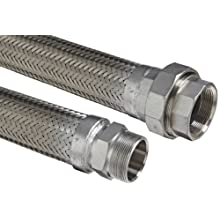Hose Master Stainless Steel 321 Flexible Metal Hose Assembly, Stainless Steel 304 Hex NPT Male x Stainless Steel 304 150 psi NPT Female Union