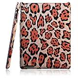 【全4色】iPad 2 プラスチックケース 豹柄 オレンジ  Plastic Case for iPad 2 保護液晶フィルム付 (1187-4)