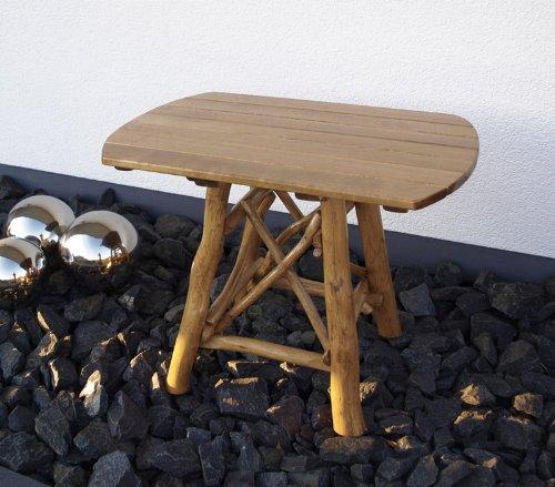 Pfeiffer, Knüppelholztisch MOSEL 70x100cm oval, Eiche dunkel bestellen